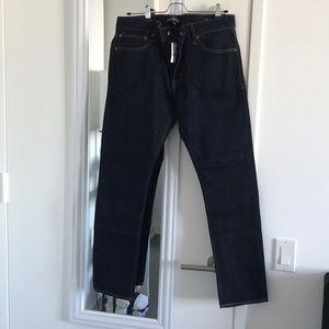 NWT J. Crew mercantile slim dark selvedge jeans